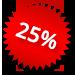 Korting 25%