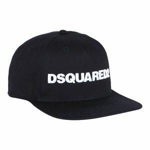 Dsquared2 Pet Zwart met wit geborduurd logo