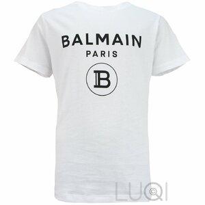 Balmain Shirt basic wit met zwart logo