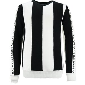 Balmain Pull Zwart Wit
