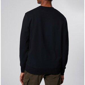 CP Company Crew Sweater Fleece Logo Blauw