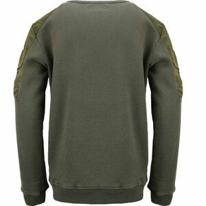 CP Company Sweater Crew Mix Olive