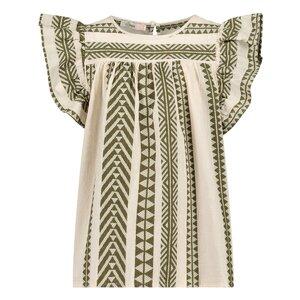Devotion Anna Blouse Off White Khaki 0215021G