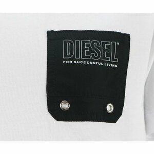 Diesel Shirt Wit Black Pocket