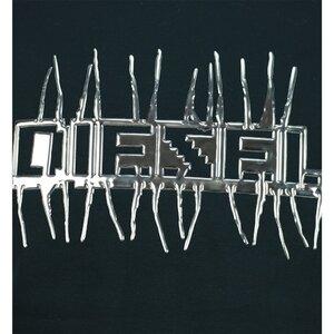 Diesel Oversized T shirt Zwart metallic
