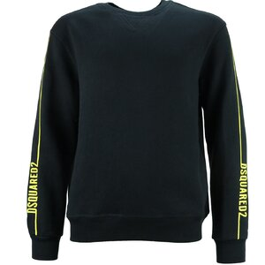 Dsquared2 Sweater zwart DQ0648 relax fit