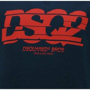 Dsquared2 Sweater Blauw Rood DSQ2