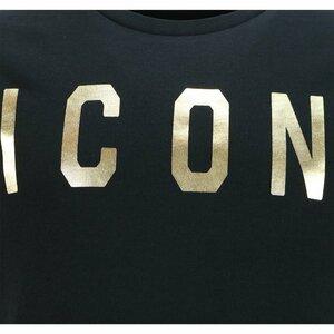 Dsquared2 Icon Shirt Zwart met gouden opdruk