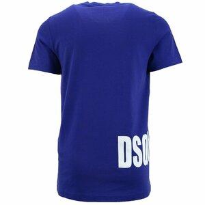 Dsquared2 Shirt Cobalt Blauw met logo