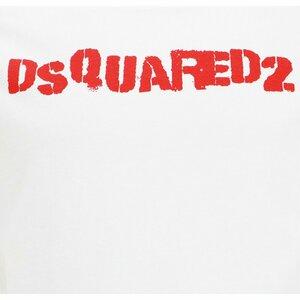 Dsquared2 Shirt Wit met rode Logoprint