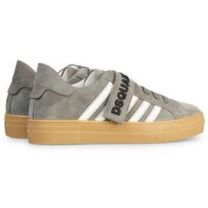 Dsquared² Sneakers Suede Grijs Wit