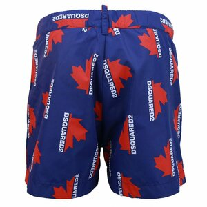 Dsquared2 Swimshorts Blauw Rood Wit