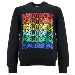 Dsquared2 Sweater Zwart DQ0221 relax fit