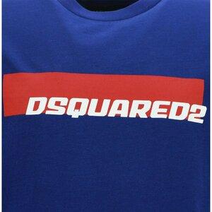 Dsquared2 Shirt wit met logo in rood/zwart