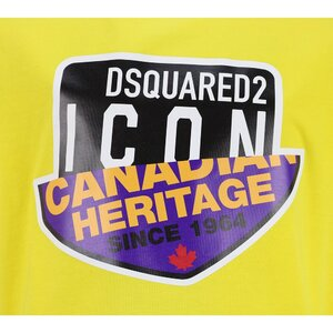 Dsquared2 Icon shirt Geel DQ0244 Relax Fit