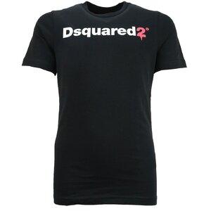 Dsquared2 Shirt zwart D2@ slimfit