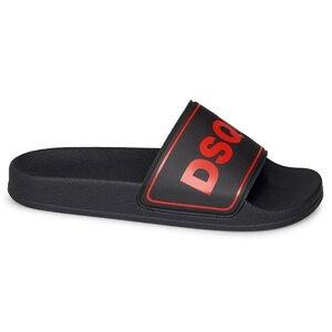 Dsquared² Badslippers Zwart met Rood logo 67094
