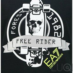 EA7 Logo Shirt Free Rider Zwart