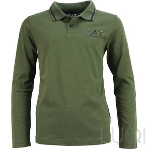 EA7 Armani Jersey Polo Shirt Forest Night