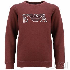 Emporio Armani Sweater Fleece Donkerrood