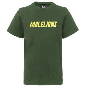 Malelions Junior Nium T-Shirt - Army/Yellow