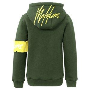 Malelions Captain Hoodie Army Yellow met gratis pet