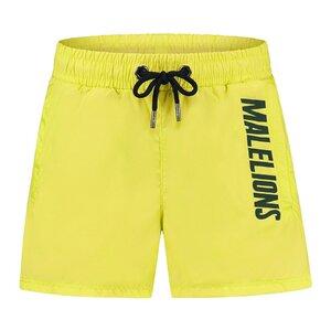 Malelions Junior Nium Swimshort - Yellow/Army