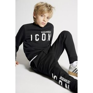 Dsquared2 Sweater Icon Zwart relax fit