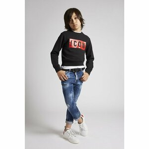Dsquared² Sweater Icon Zwart Rood