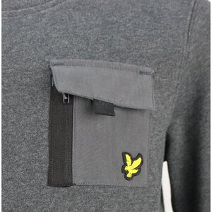 Lyle & Scott Zip Sweater grijs LSC0889