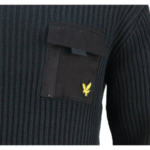 Lyle & Scott gebreide trui zwart LSC0873