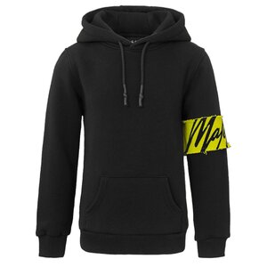 Malelions Captain Hoodie Black-Yellow