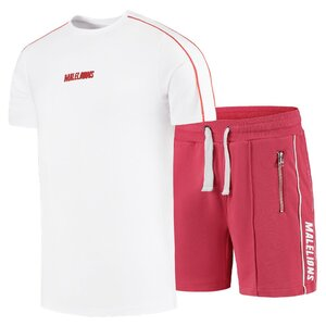 Malelions Twinset Rood met wit