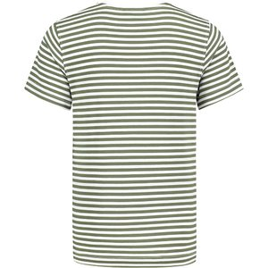 Malelions Shirt Striped Groen