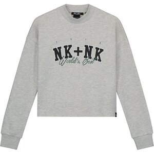 Nik & Nik Worlds Best Sweater Grijs melange G8964