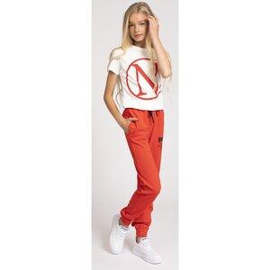 Nik & Nik T shirt met N logo Off White