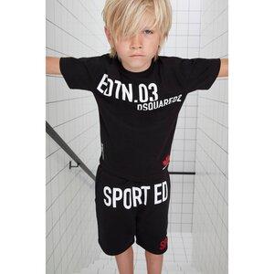 Dsquared2 Shirt Sport Edition Zwart DQ0030 Relax Fit