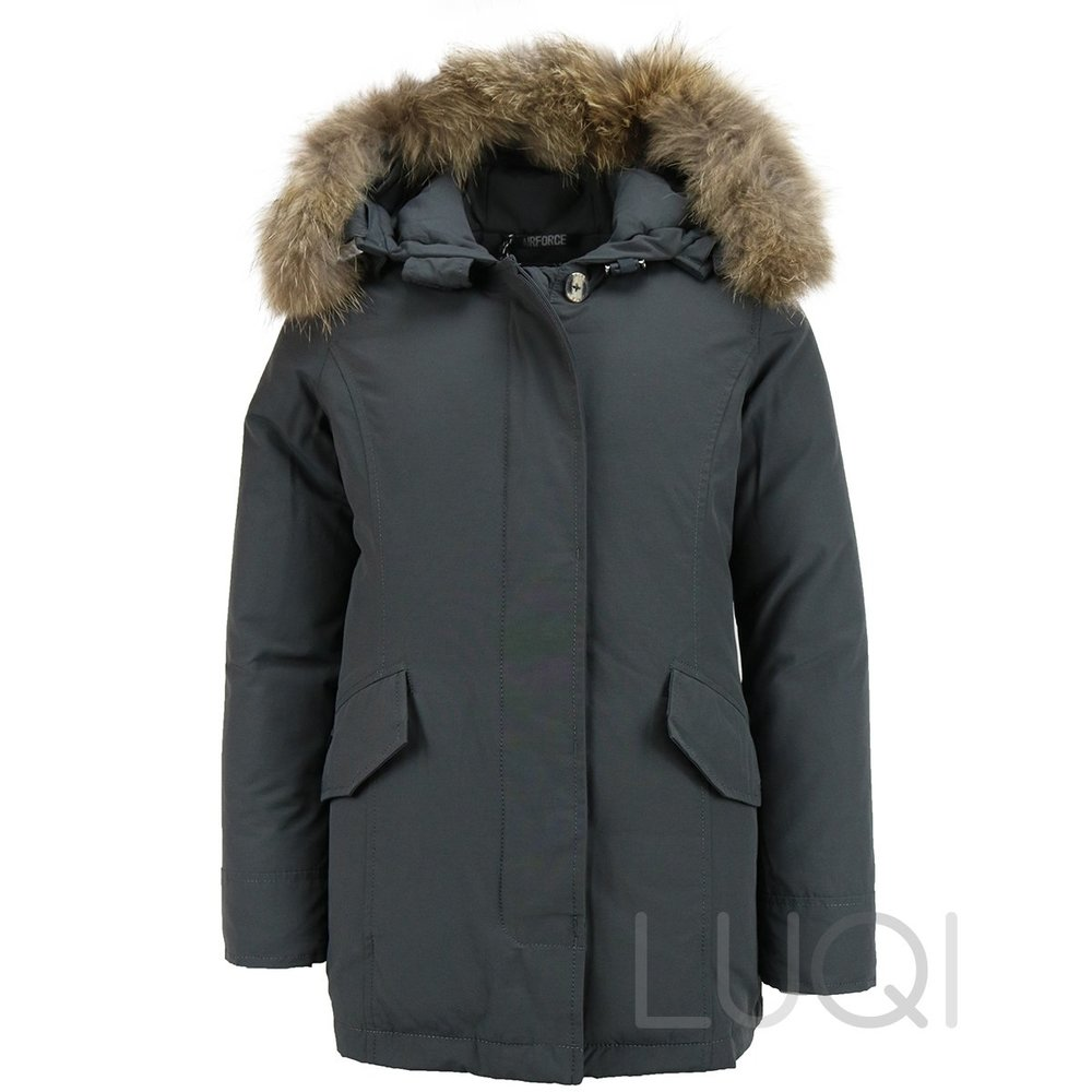 Airforce 2 pocket Parka Polyester Girls RF Grey