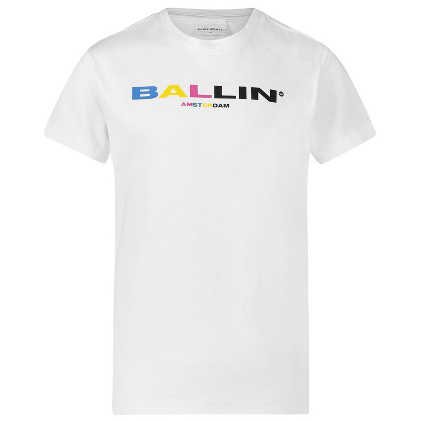 Ballin basic shirt Wit Colour Logo