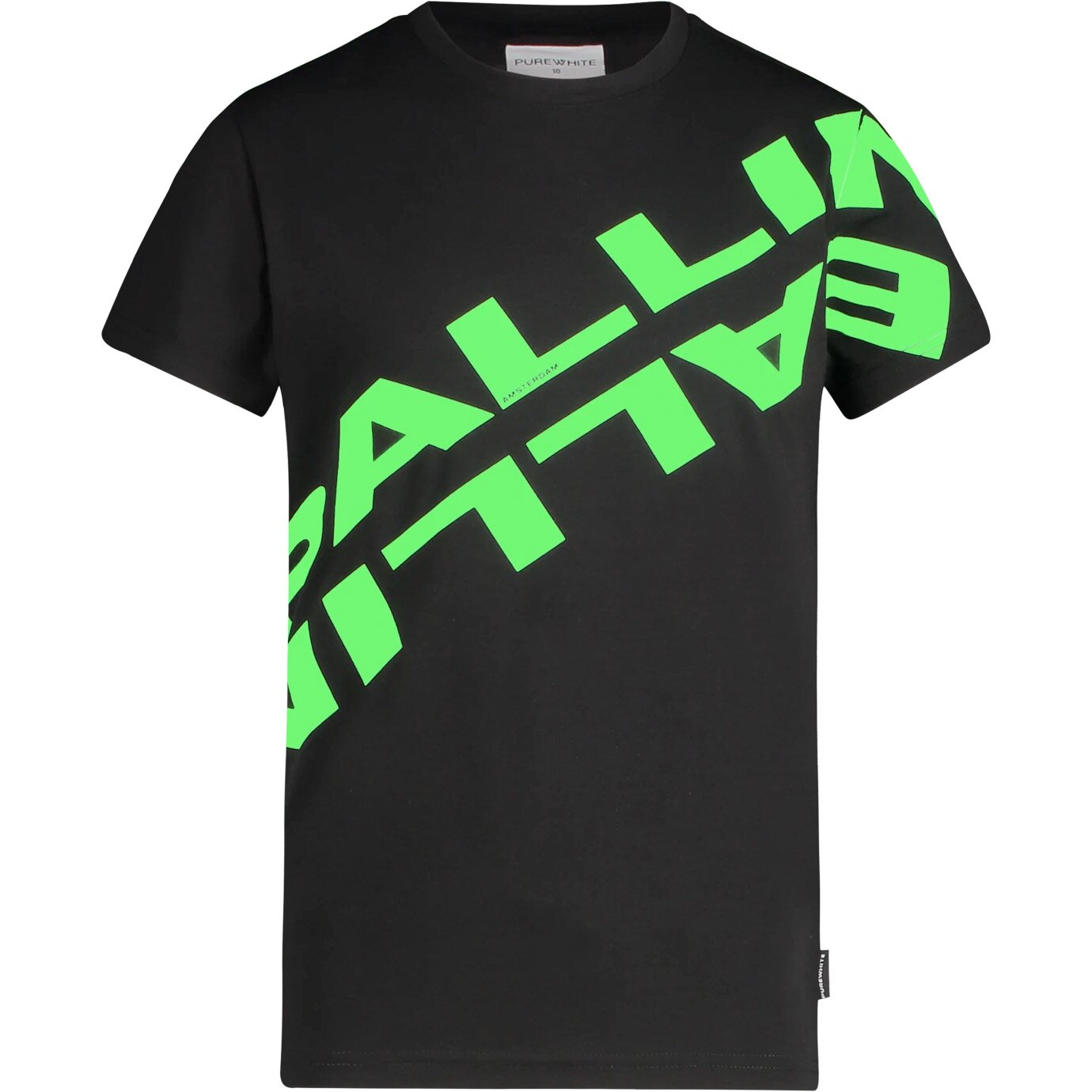 Ballin Shirt 21017103 Zwart Fluo Groen