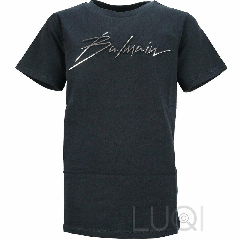 Balmain T-Shirt Zwart Zilver