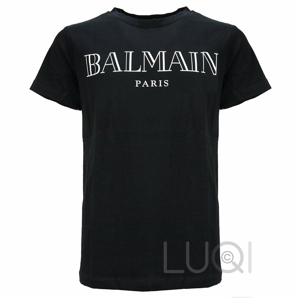 Balmain Logo T-Shirt Zwart