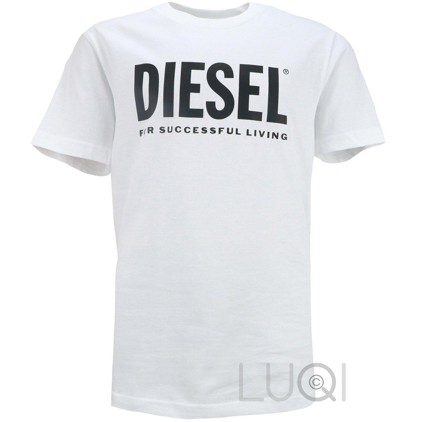Diesel Shirt Tjustlogo Wit