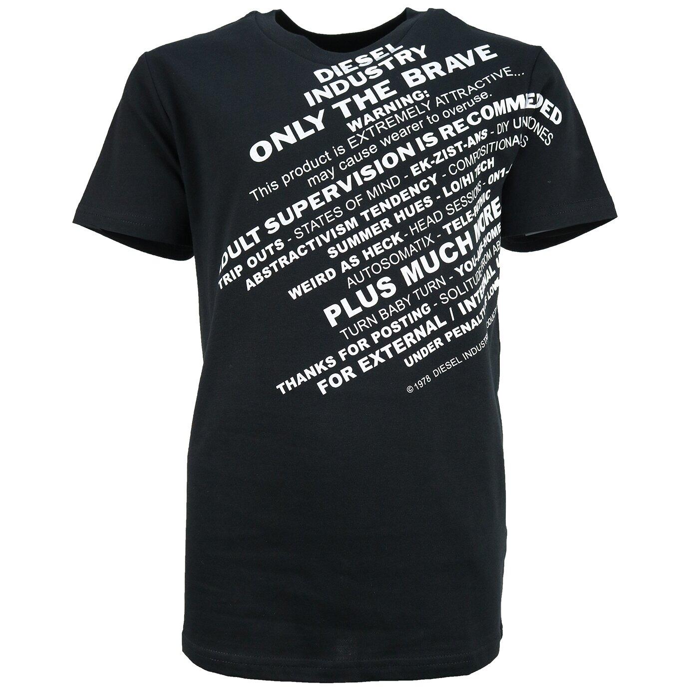 Diesel TDIEGOS3 Shirt Zwart