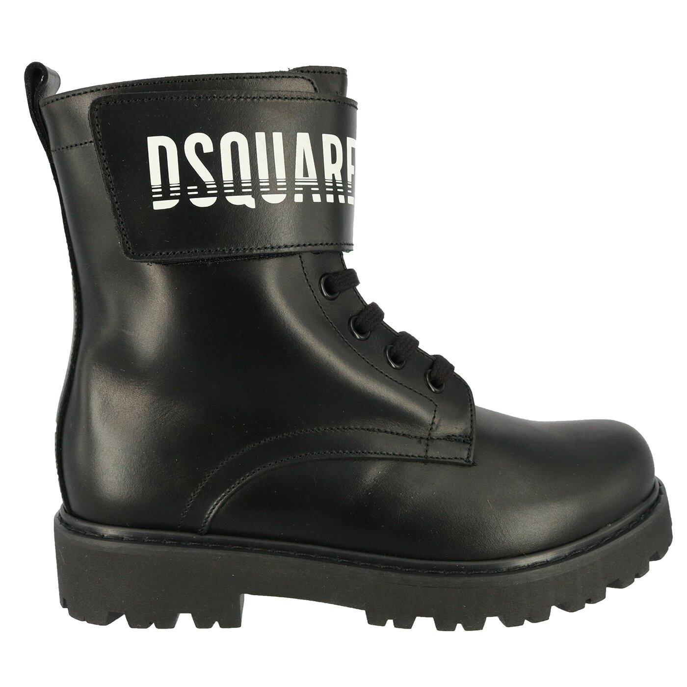 Dsquared2 Boots zwart met logoband