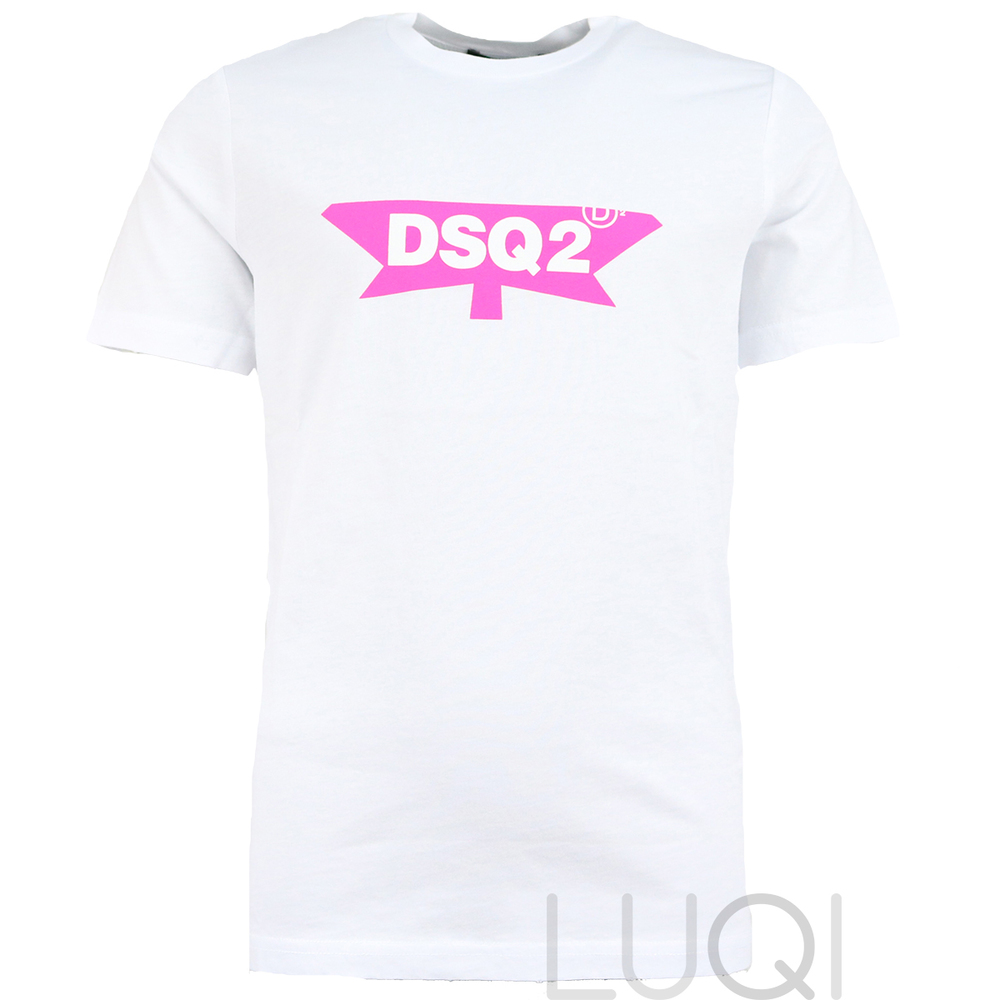 Dsquared² Shirt Logo White Pink
