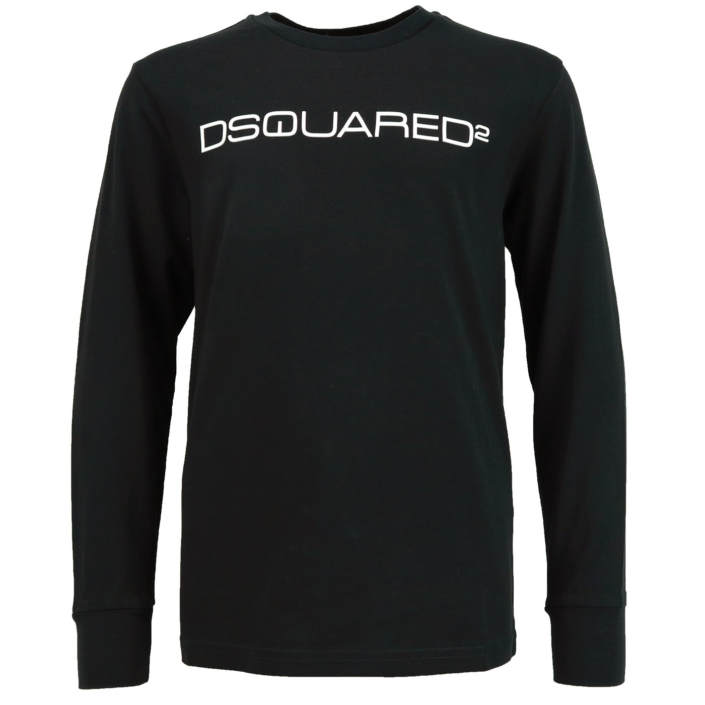 Dsquared shirt met rubberen logo zwart relax fit