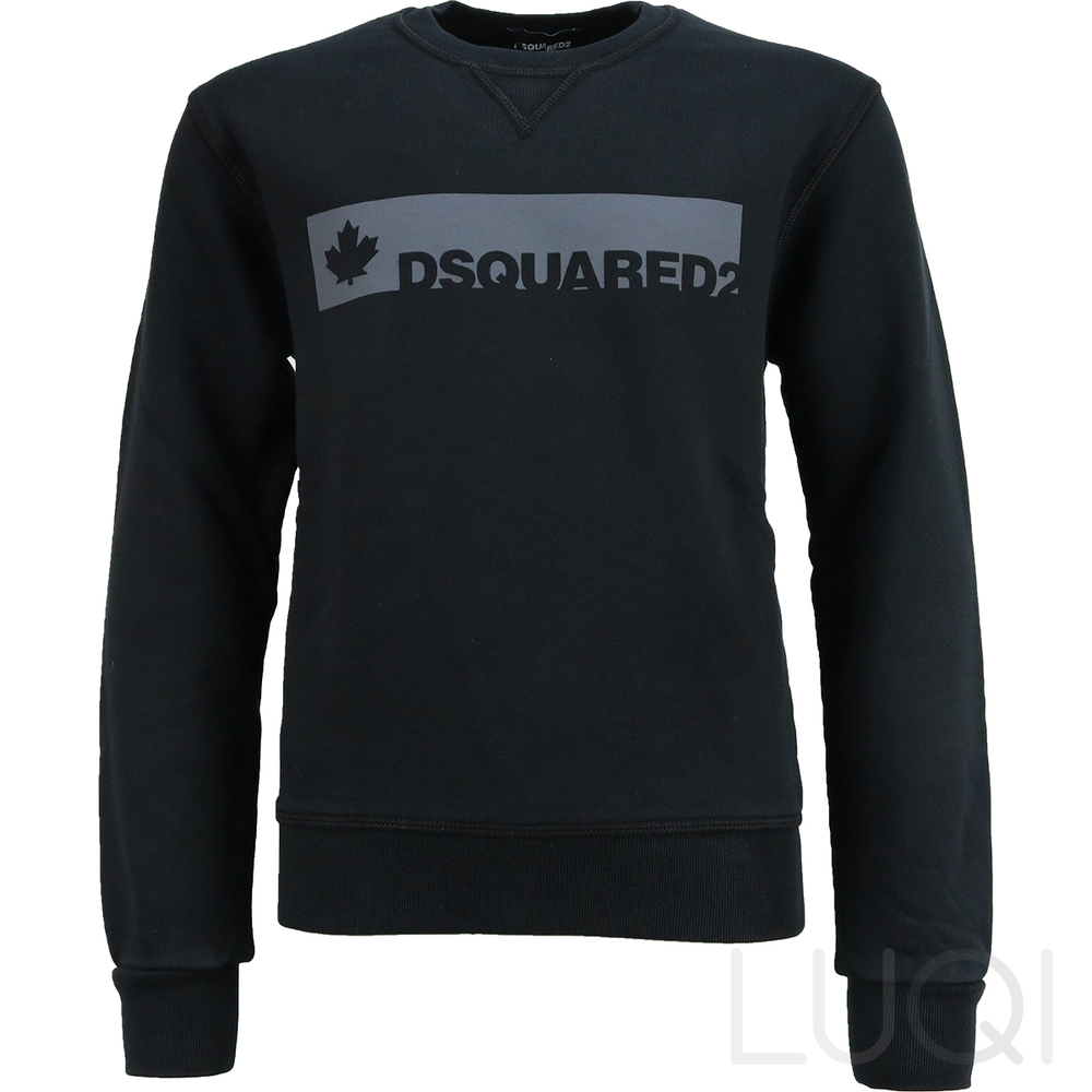 DSQUARED² SWEATER BLACK DARK GREY LOGO