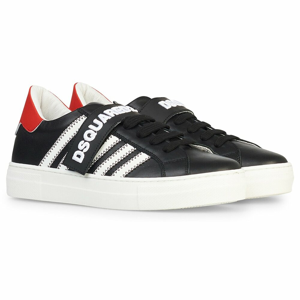 Dsquared Sneaker Stripe Black White Red
