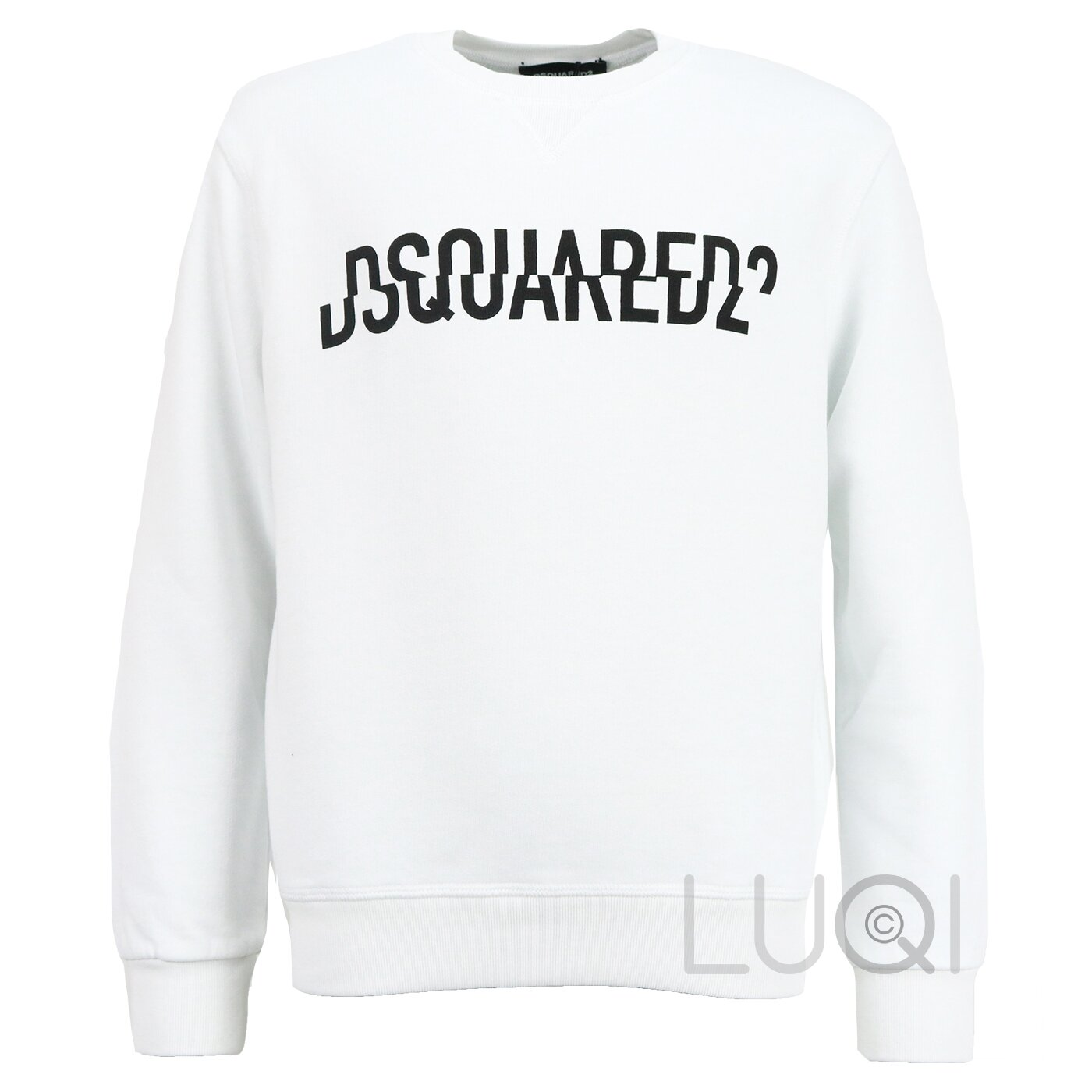 Dsquared2 Sweater wit met logo relax fit